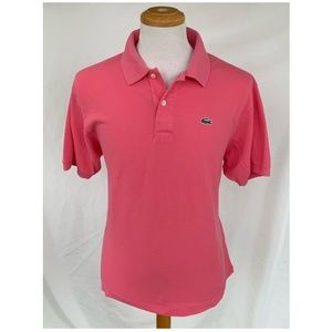 Lacoste Pink Pique Polo Shirt.  Size 7/US XL.